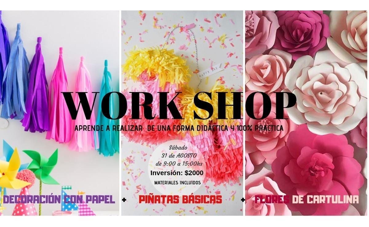 Taller De Flores Piñatas Decoracion En Papel