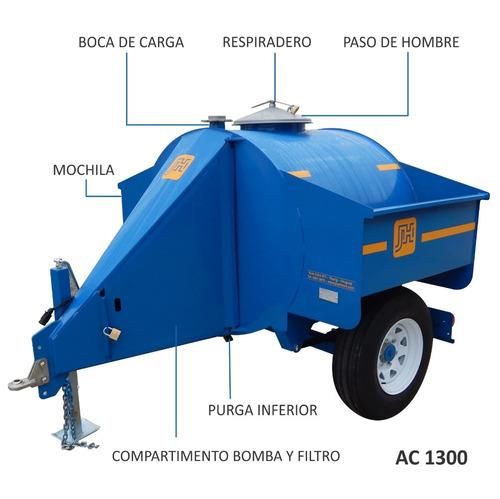 tanque acoplado cisterna acero combustible 1300l j. hartwich