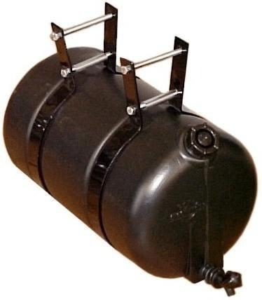 tanque de agua 26 l blanco o negro canilla y flejes metal