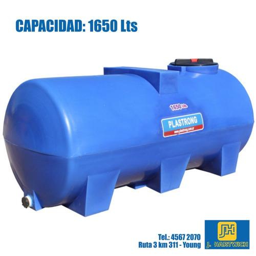 tanque plástico cilíndrico horizontal bases 1650l plastrong