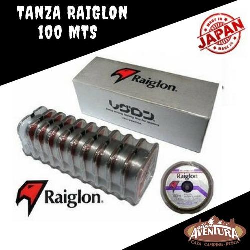 tanza nylon monofilamento raiglon 100mts 0.405mm gris niebla