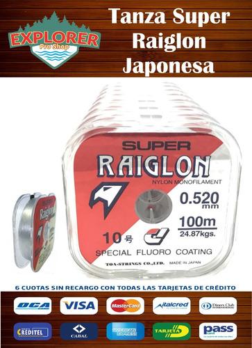 tanza super raiglon japonesa 0.285 mm