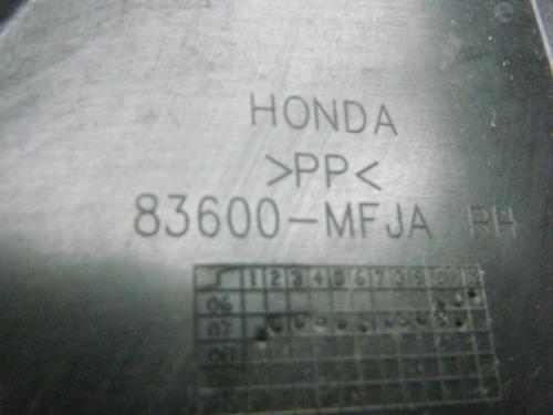 tapa de plastico derecha del tanque d honda 600rr 07 08 rr