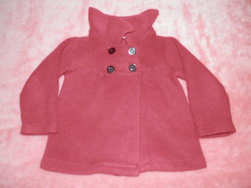 tapado polar rojo niña 1-2 años