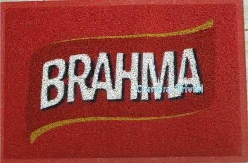 tapete capacho sagres - brahma ou itaipava - borda rebaixada