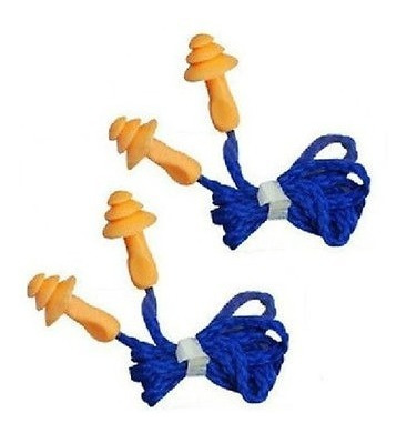 tapones para los oídos con cordón suave del silicón reutiliz