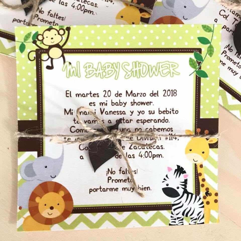 Tarjeta De Invitacion Animales De La Selva Safari
