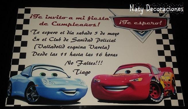 Tarjeta De Invitacion Cars
