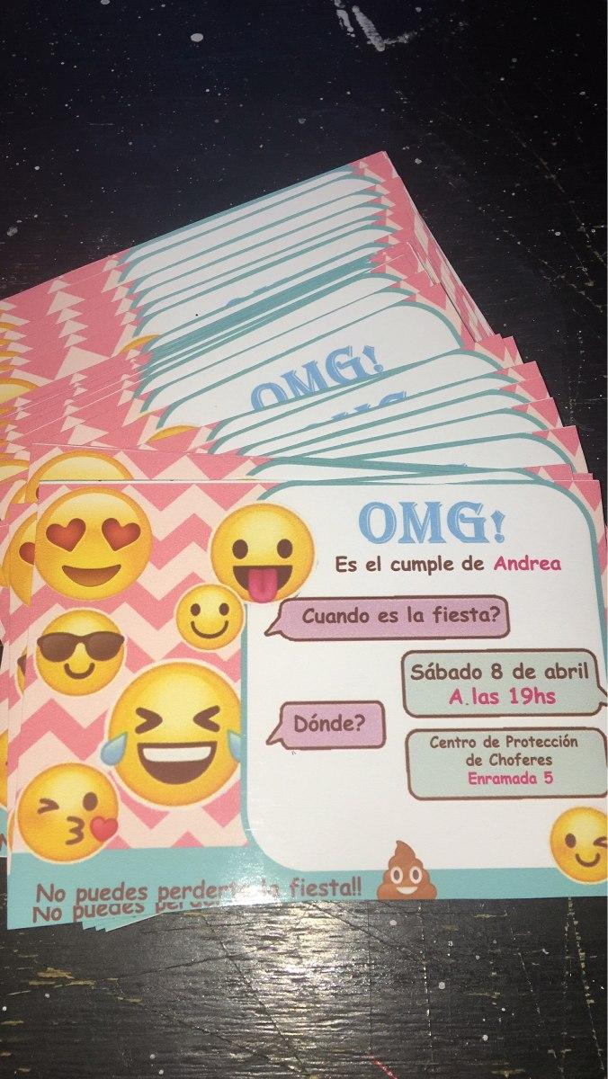Tarjeta De Invitacion De Cumpleaños Emoticon Lola Kids