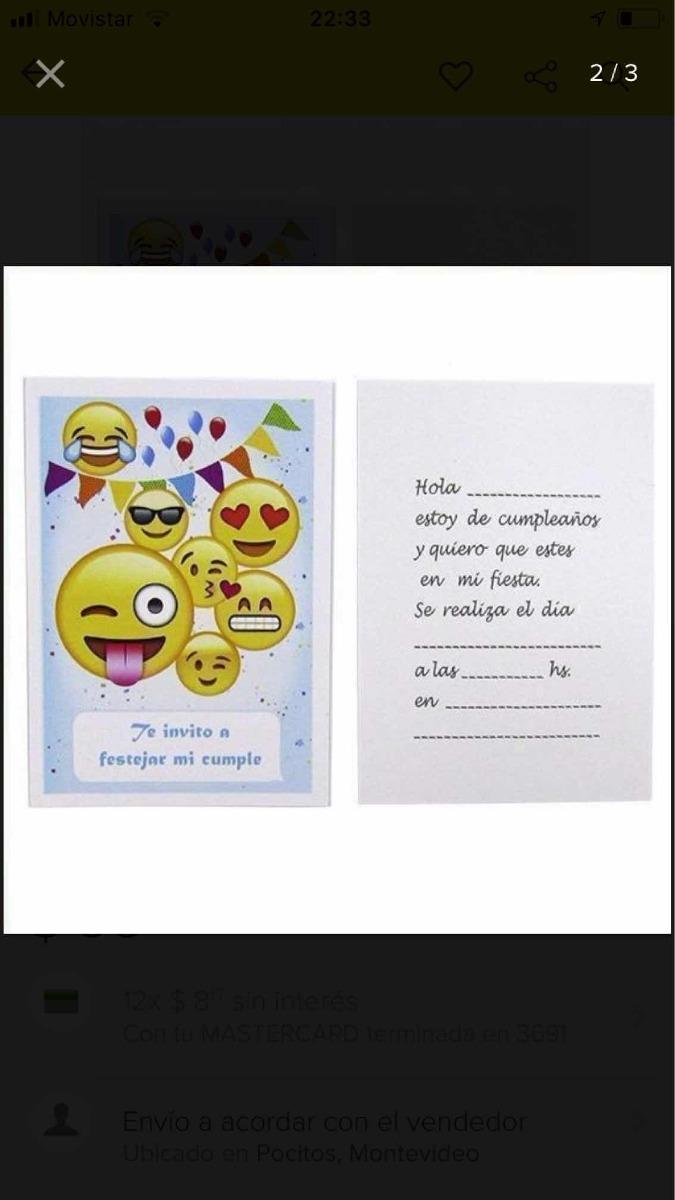 Tarjeta De Invitación Emoji Emoticón