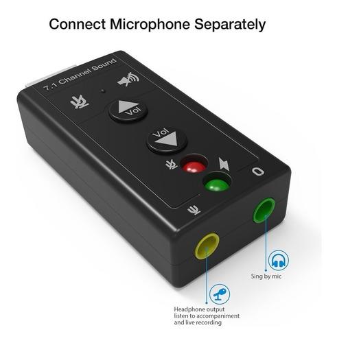 tarjeta de sonido externa usb 7.1 mic 3.5 audio pc clicshop