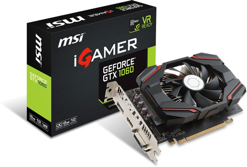 tarjeta de video msi gamer geforce gtx 1060 6gb ddr5 tranza