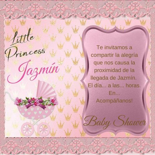 Tarjeta Digital Invitación Baby Shower Boda Infantil Whatsap