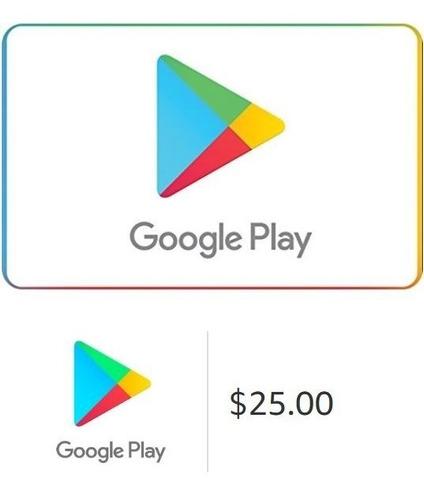 tarjeta google play 25 usd (cuentas de eeuu)- mercado uy