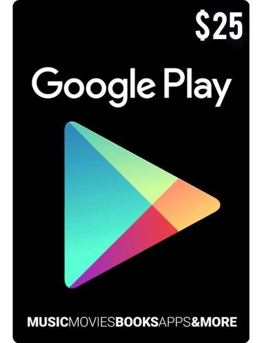 tarjeta google play 25 usd usa | mvd store