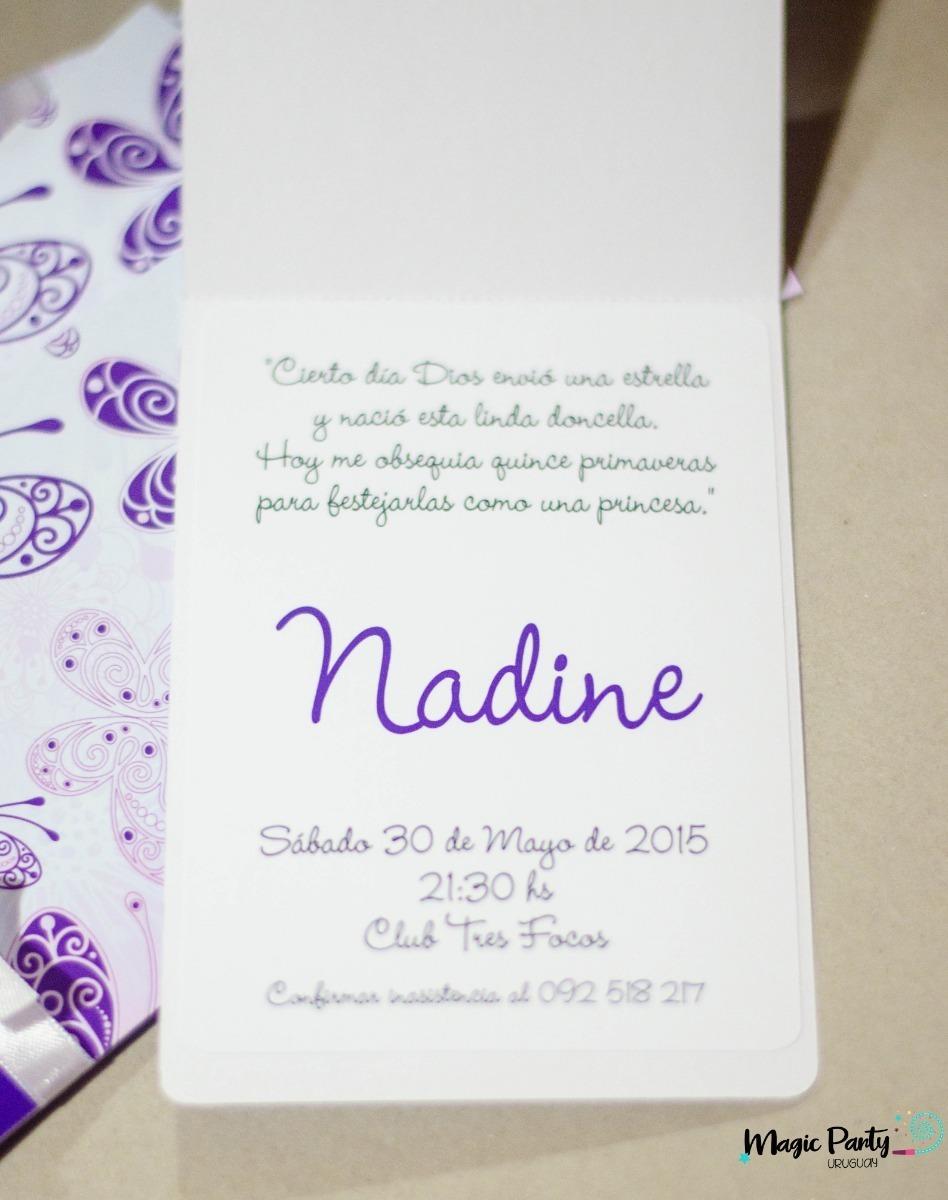 Tarjeta Invitación 15 Años