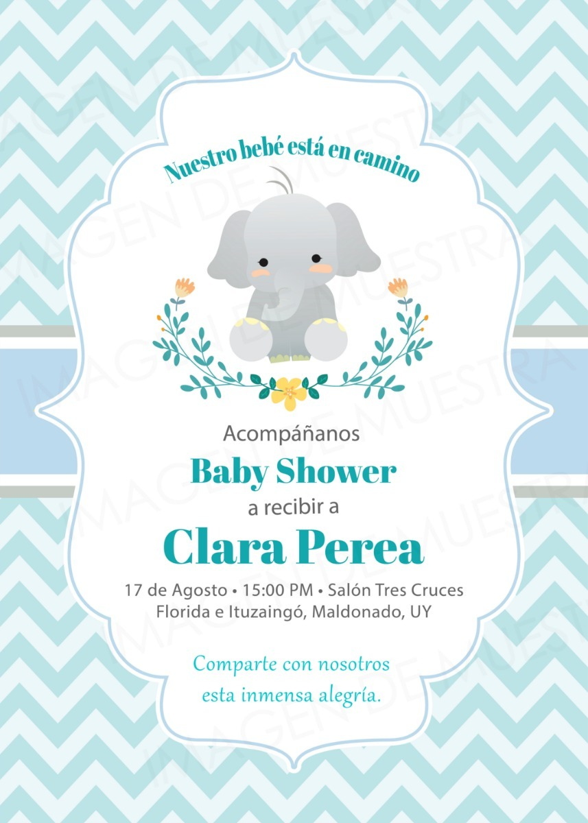 3d5e1d56b8ee5 tarjeta invitacion baby shower elefante oveja whatsapp. Cargando zoom.