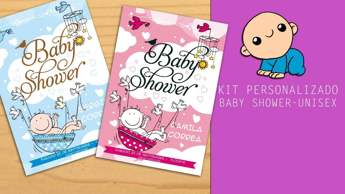 Tarjeta Invitacion Baby Shower Niño Niña Whatsapp