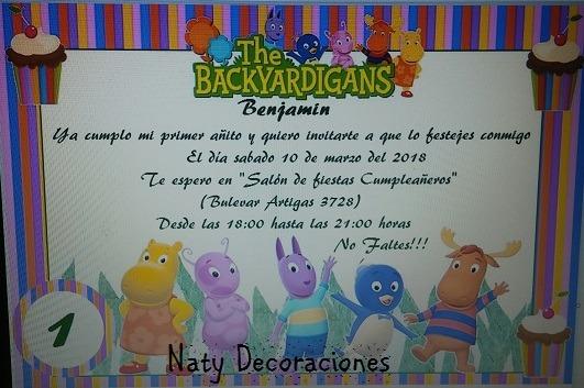 Tarjeta Invitacion Backyardigans