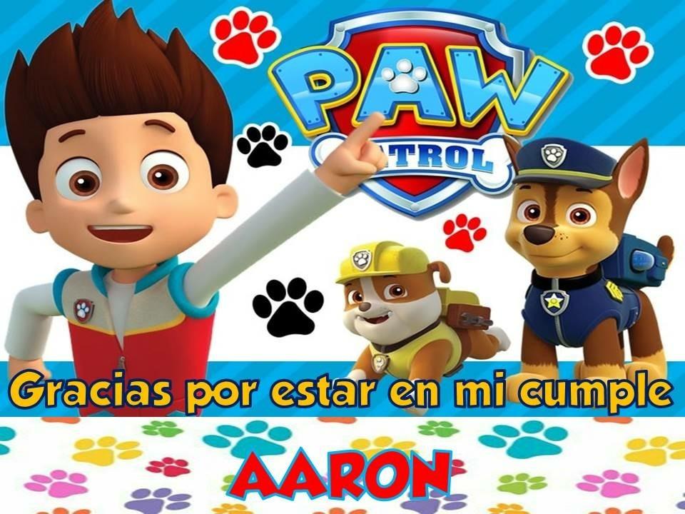Tarjeta Invitación Cumple Patrulla Canina Lego Paw