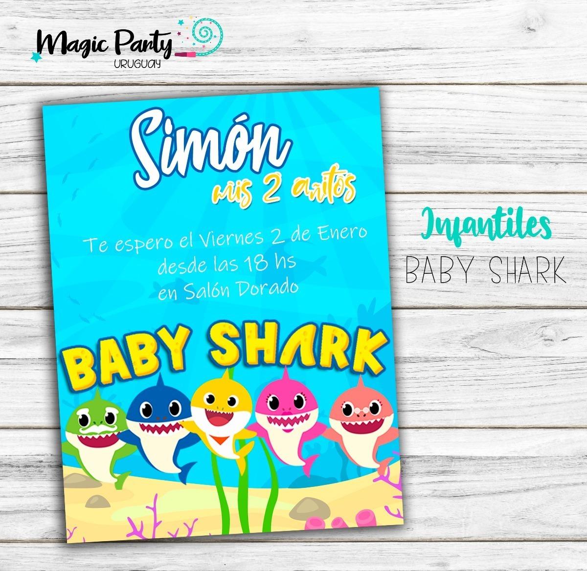 Tarjeta Invitación Digital Baby Shark