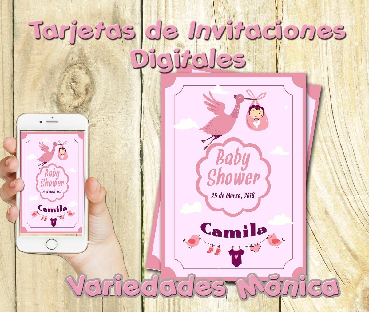 Tarjeta Invitación Digital Cumpleaños Baby Shower Comunion