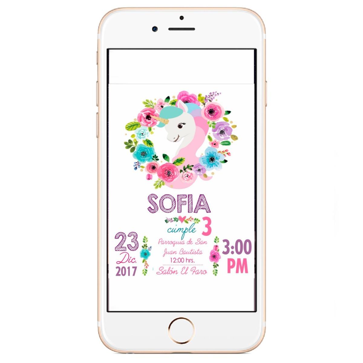 Tarjeta Invitación Digital Cumpleaños Baby Shower En 24hs