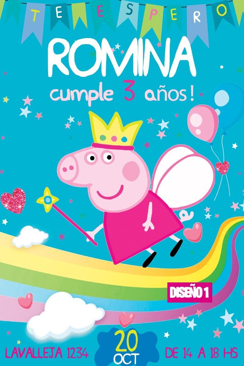 Tarjeta Invitacion Digital Cumpleanos Pepa Pig Peppa Whatsap 180