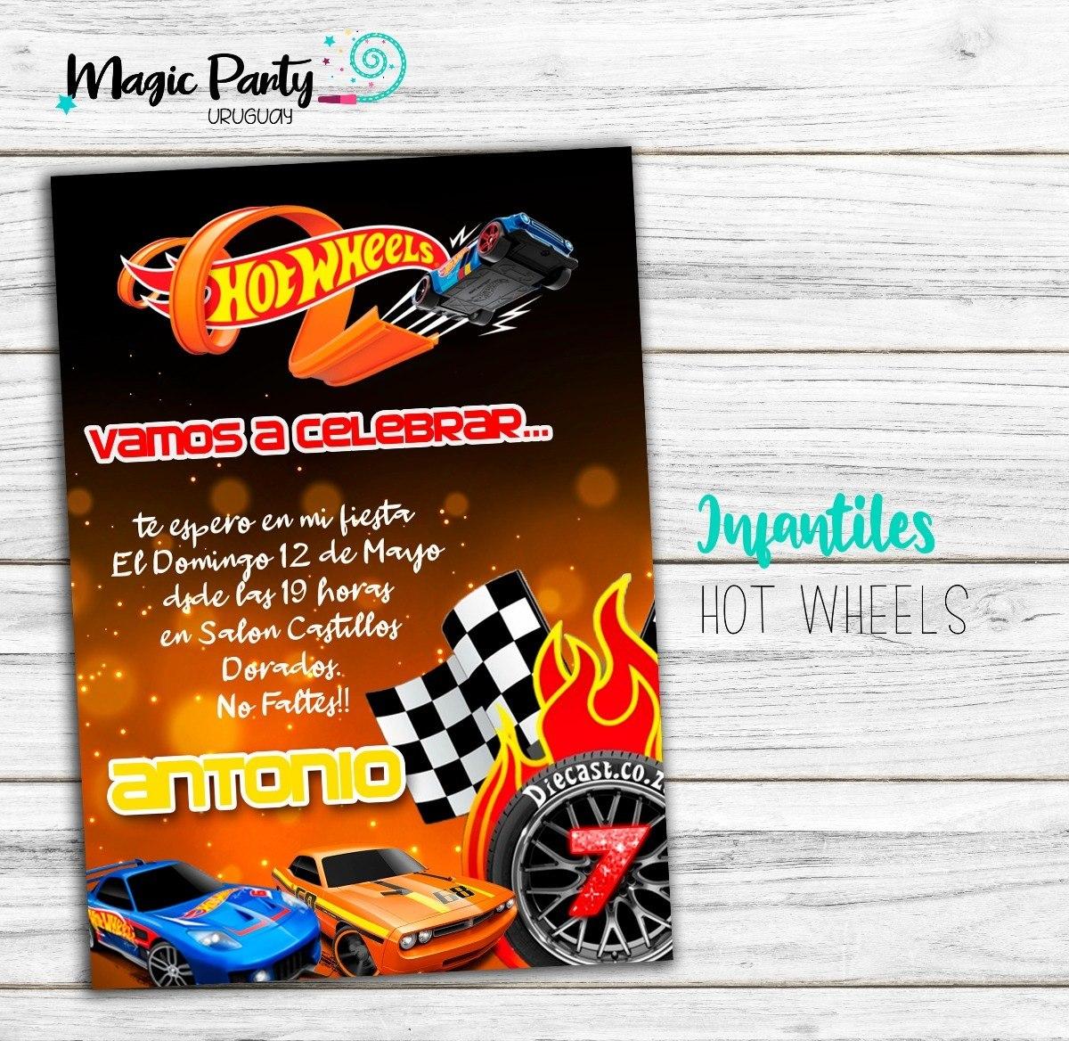 Tarjeta Invitación Digital Hot Wheels