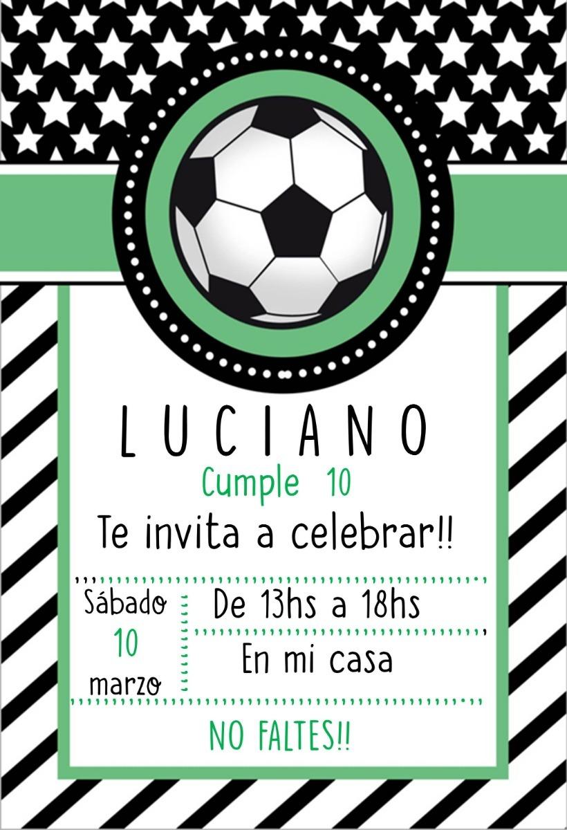 Tarjetas Invitacion Cumpleaños Futbol Para Imprimir Ideas