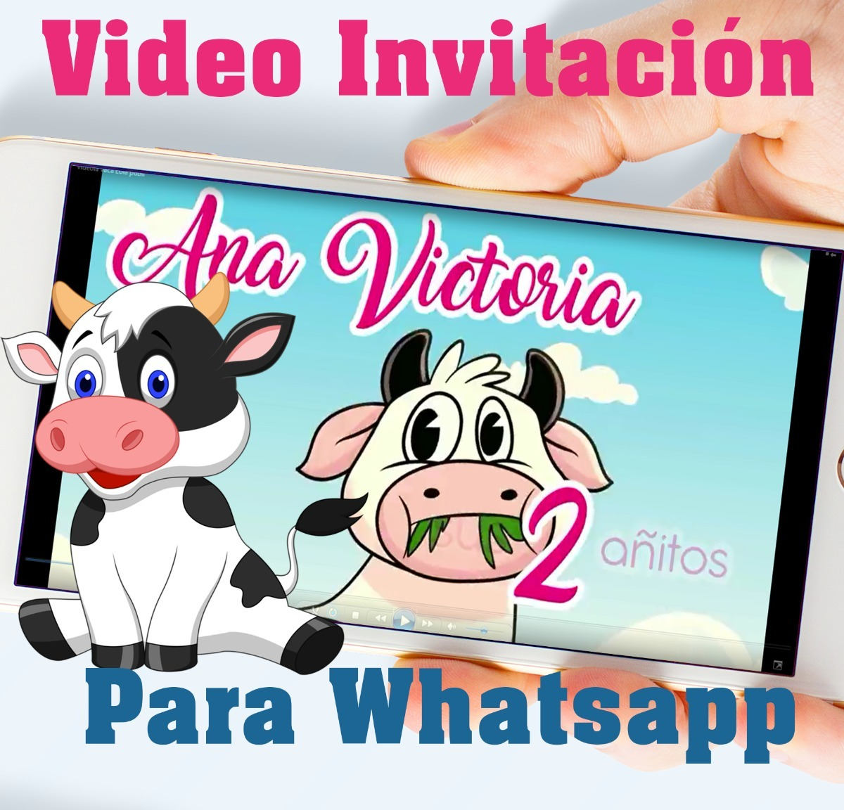 Tarjeta Invitación Digital Vídeo Animado La Vaca Lola