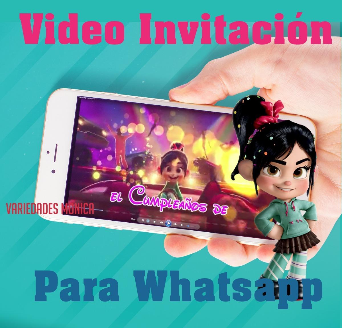 Tarjeta Invitación Digital Vídeo Animado Vanellope Ralph