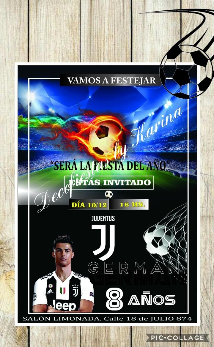 Tarjeta Invitación Fútbol Juventus Barsa Real Madrid Peñarol