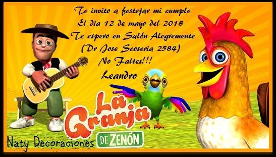 Tarjeta Invitacion Granja Zenon