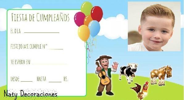 Tarjeta Invitacion Granja Zenon Modelo 2 Con Foto