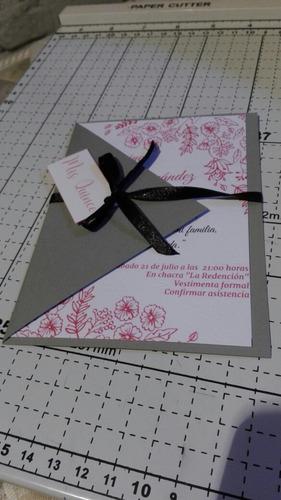 tarjeta invitacion quince boda cumpleaños aniversarios kraft