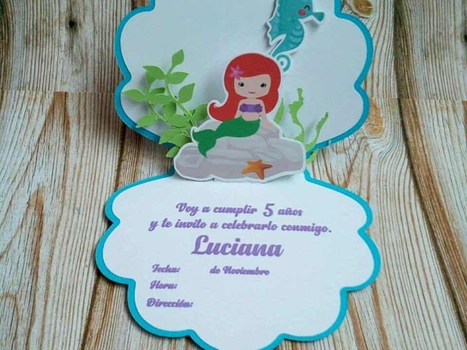 Tarjeta Invitación Sirenas Sirenita