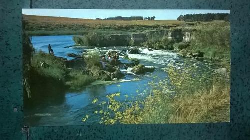 tarjeta postal * paraje la cascada * necochea / quequen