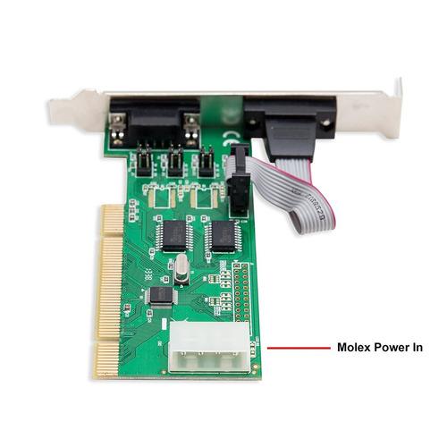 tarjeta puerto serial syba sd-pci15039 2 port db9 rs-232