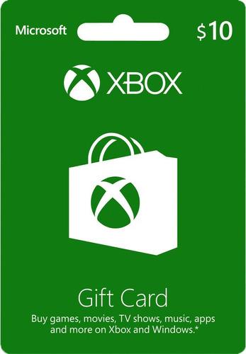 tarjeta xbox live gift 10 usa | mvd store
