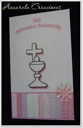 tarjetas bautismo, comunión - acuarela creaciones