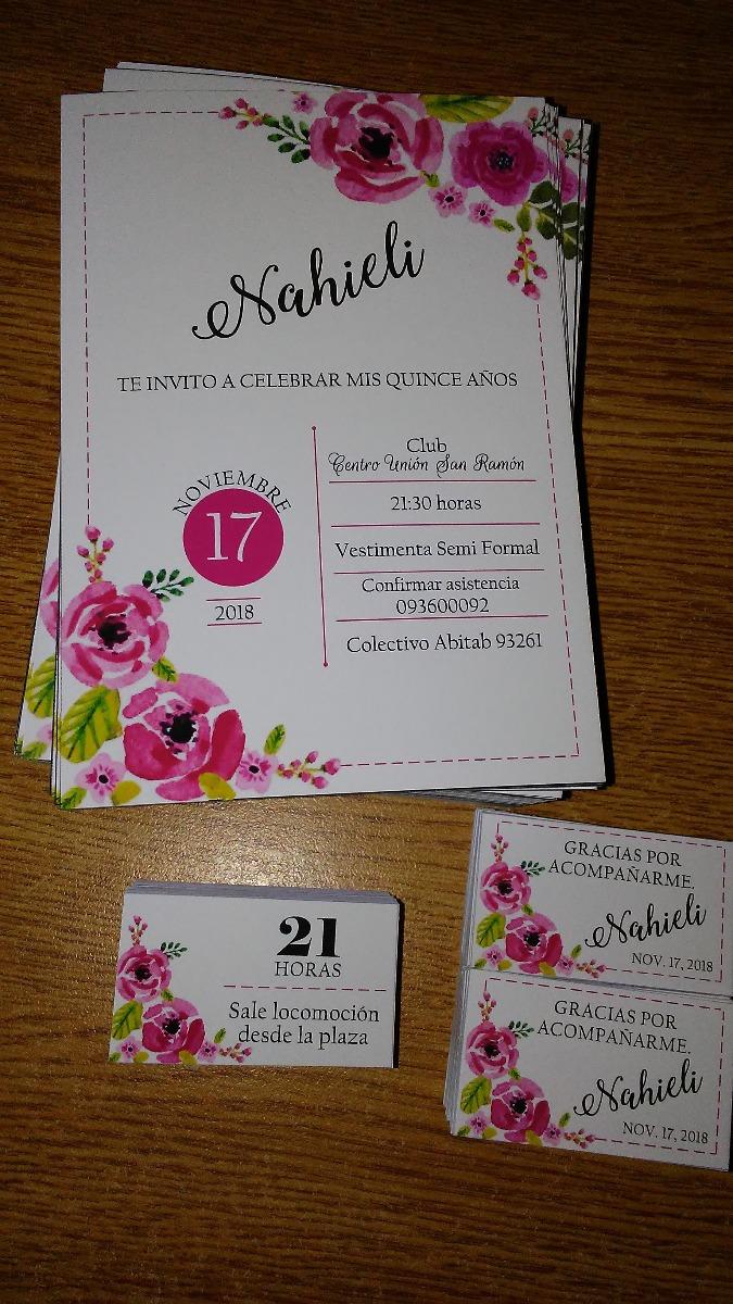 Tarjetas Boda Tarjetas 15 Años Invitaciones