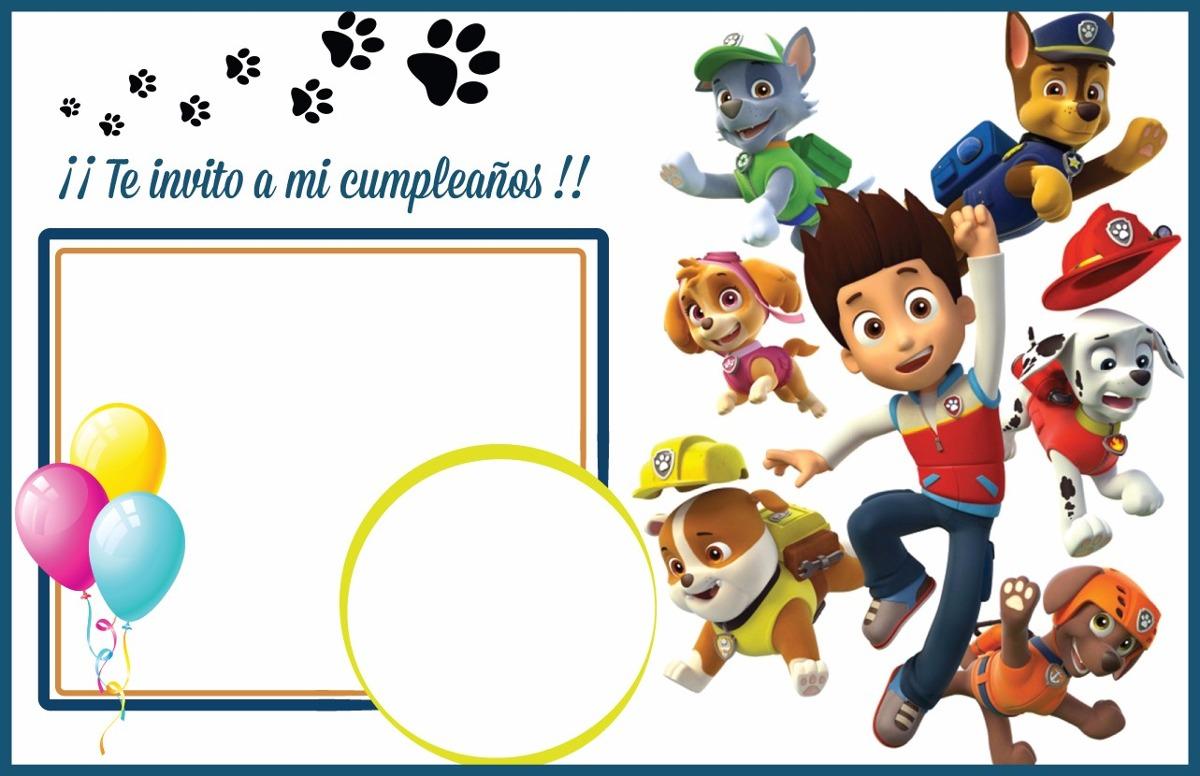 Tarjetas De Cumpleaños Invitaciones Patrulla Canina