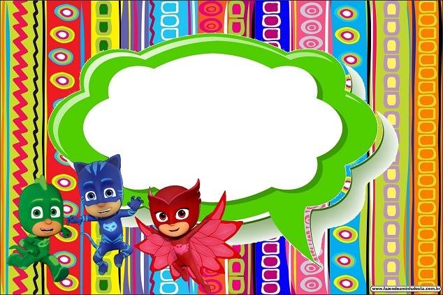 Tarjetas De Cumpleaños Ladybug Y Heroes En Pijamas
