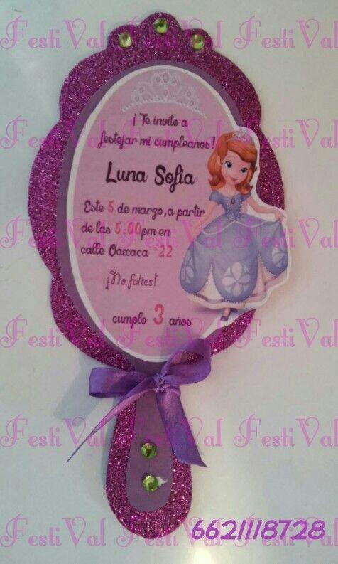 Tarjetas Invitación Princesa Sofía