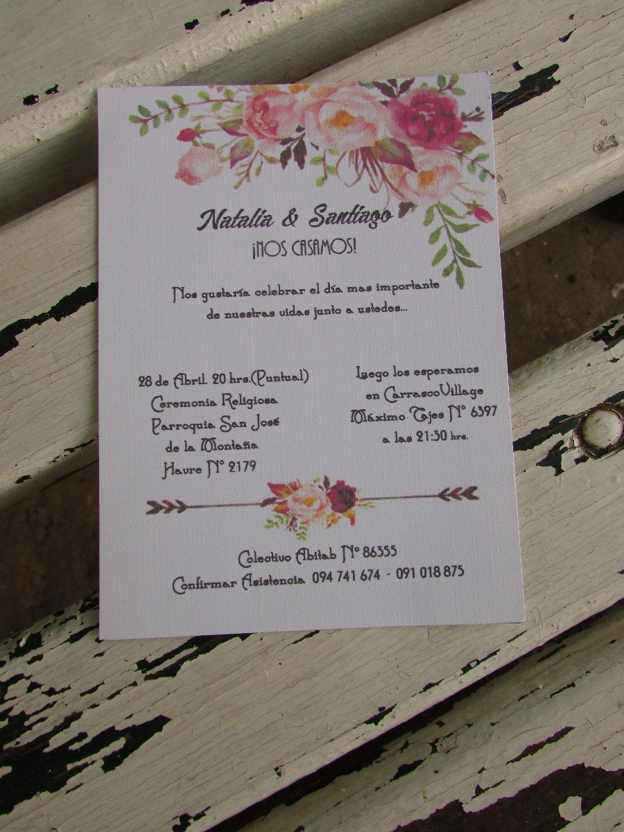 Tarjetas Invitación Vintage Flores Mandalas Atrapasueños