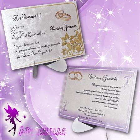Tarjetas Invitaciones 15 Años Casamiento Boda