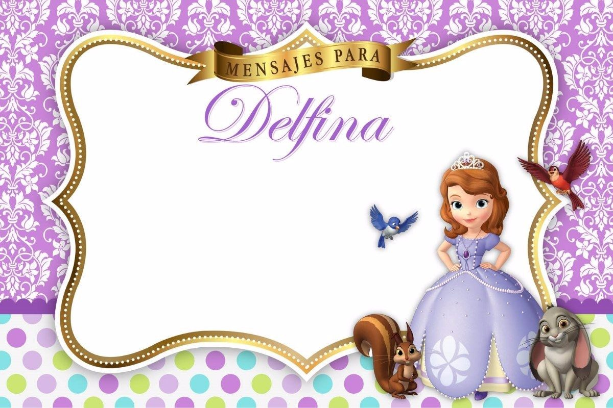 Tarjetas Invitaciones Infantiles Princesa Sofia