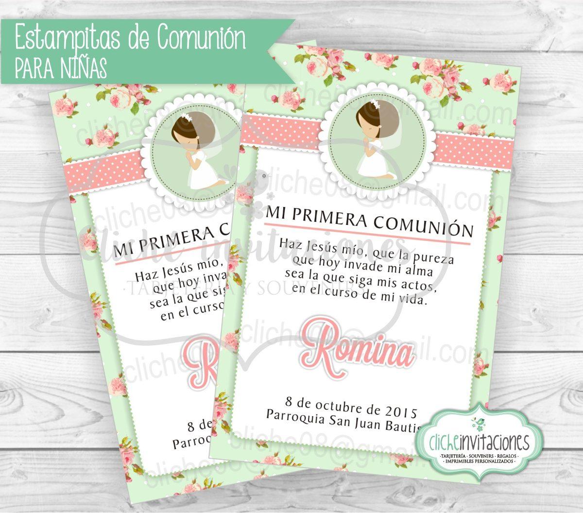 52f85d172156b tarjetas invitaciones primera comunion bautismo niña. Cargando zoom.