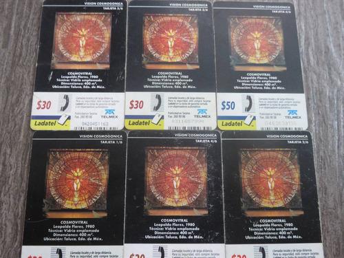 tarjetas telefonicas cosmo vitral vision